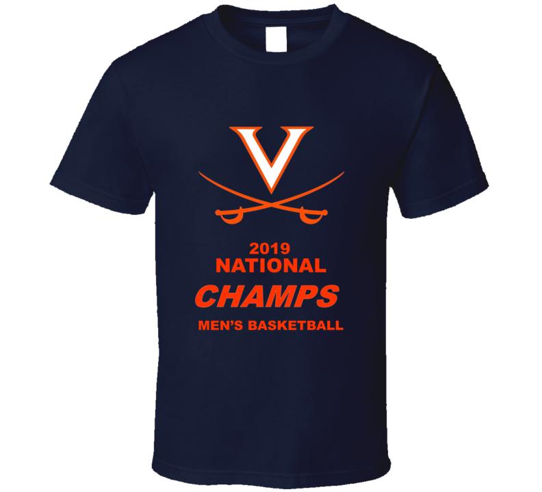 Virginia  2019 National Champs Men's Basketball Blue Gift