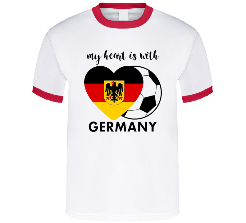 My Heart Is With Germany T Shirt Soccer Football Gift