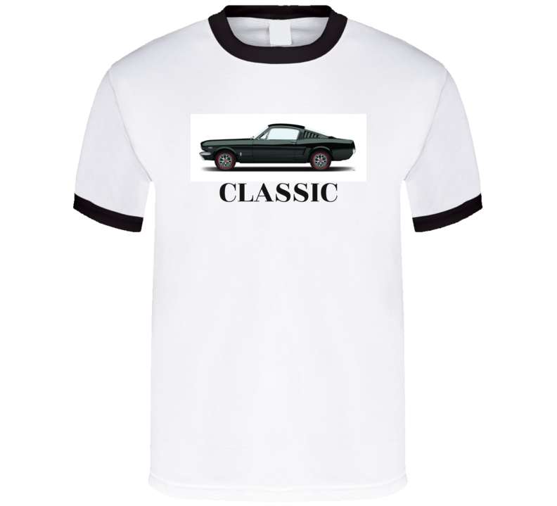 Classic Ford Mustang 2+2 Fastback 1965 1966 1964 1/2 Ponycar Vintage Musclecar 289  T Shir Giftt