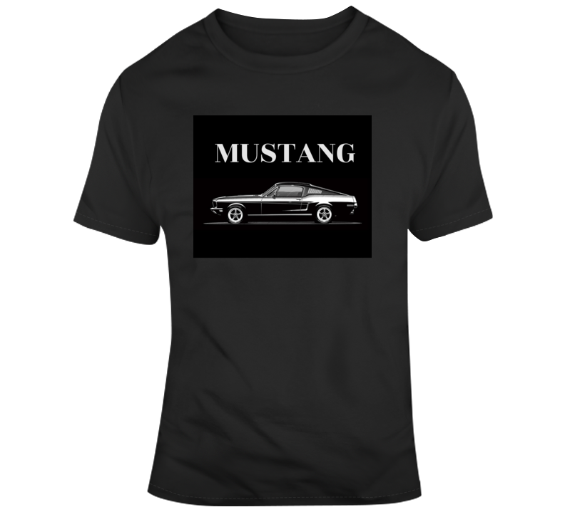 Mustang Fastback 2+2 Car Cars Father's Day Gift T Shirt 1968