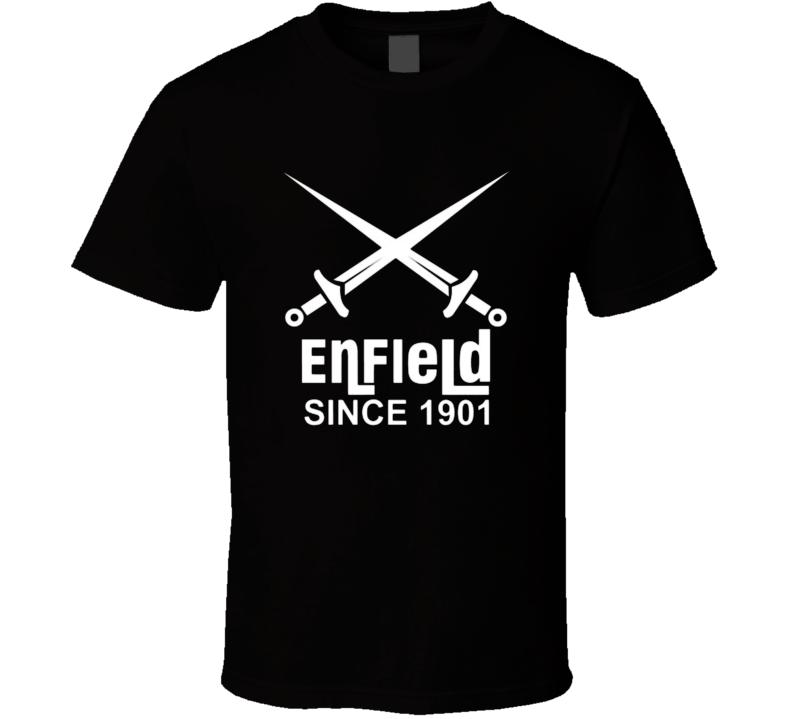 Enfield Motorcycles Tshirt Biker Fathers Day Gift Dad Bike T Shirt