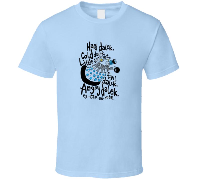Dr Who Hard Dalek Soft Kitty Funny Tshirt Tardis Big Bang Theory Warm Kitty Sheldon Spoof T Shirt