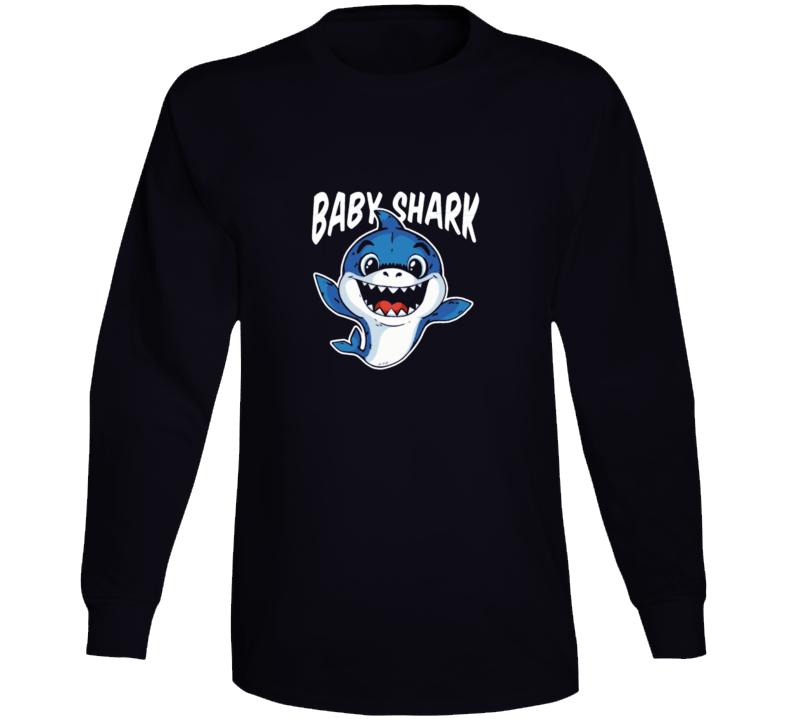 Baby Shark Doo Doo Funny Tshirt Gift Fathers Day Humorous Long Sleeve