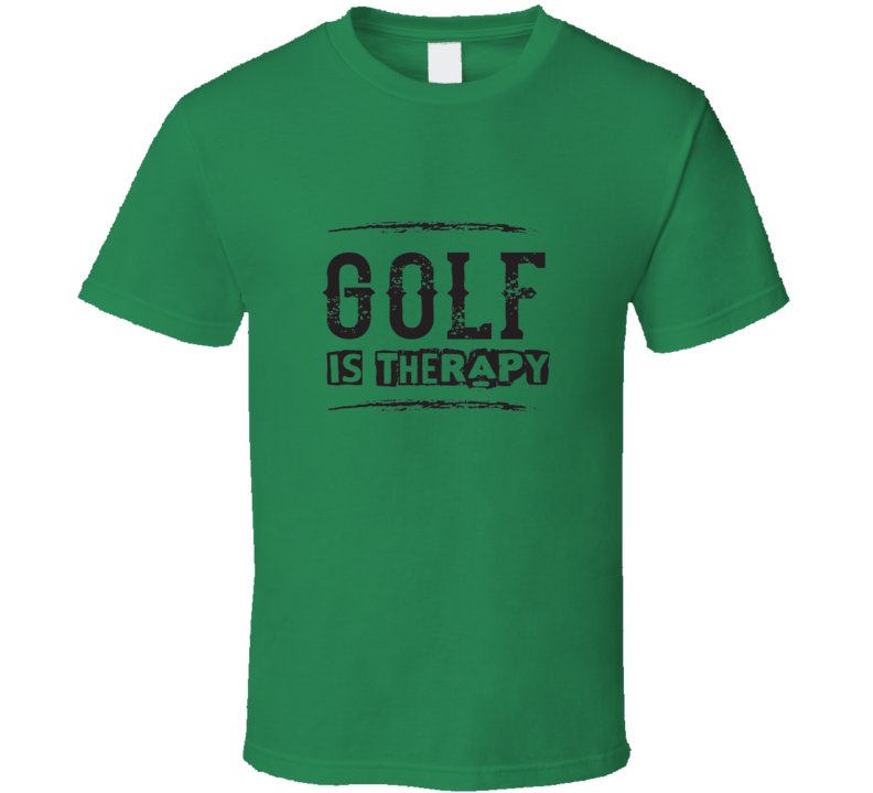 Golf Is Therapy Funny Tshirt Gift For Golfers Fathrrs Day Golfing Dad T Shirt