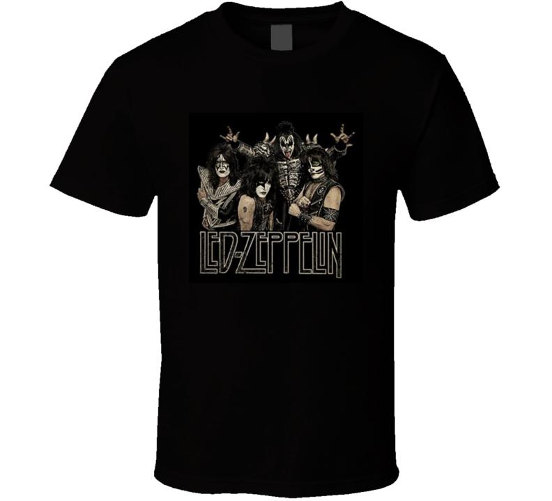 Led Zeppelin Kiss Funny Spoof Rock Band Tshirt Gift Concert T   T Shirt