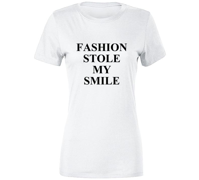 Fashion Stole My Smile Vb Victoria Beckham Ladies Premium T   Fashionista T Shirt