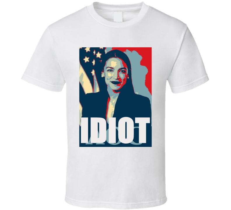 Angel Ocasio Cortez Aoc Idiot Political Funny Tshirt Democrat Green Deal T Shirt