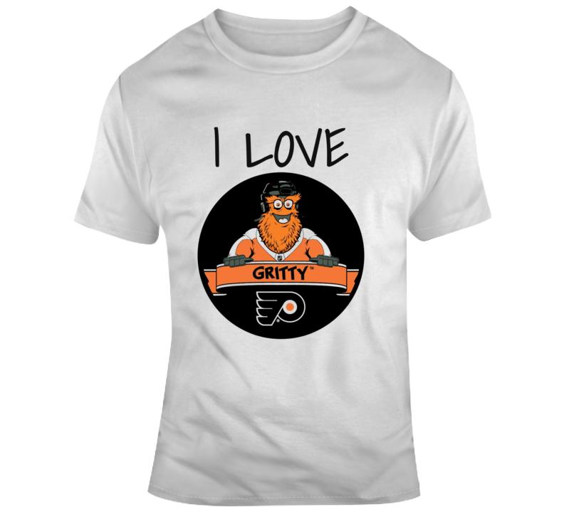 I Love Gritty!  Philadelphia Flyers Mascot  Nhl  Hockey T Shirt