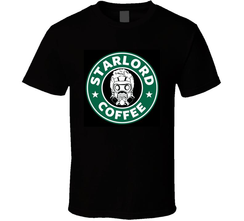 Star Lord Coffee Tshirt Fortnite Starbucks Funny T Shirt