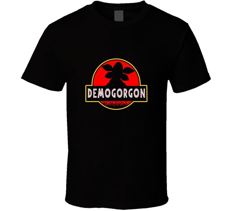Demogorgon Stranger Things Jurassic Park Spoof  Netflix Funny T Shirt