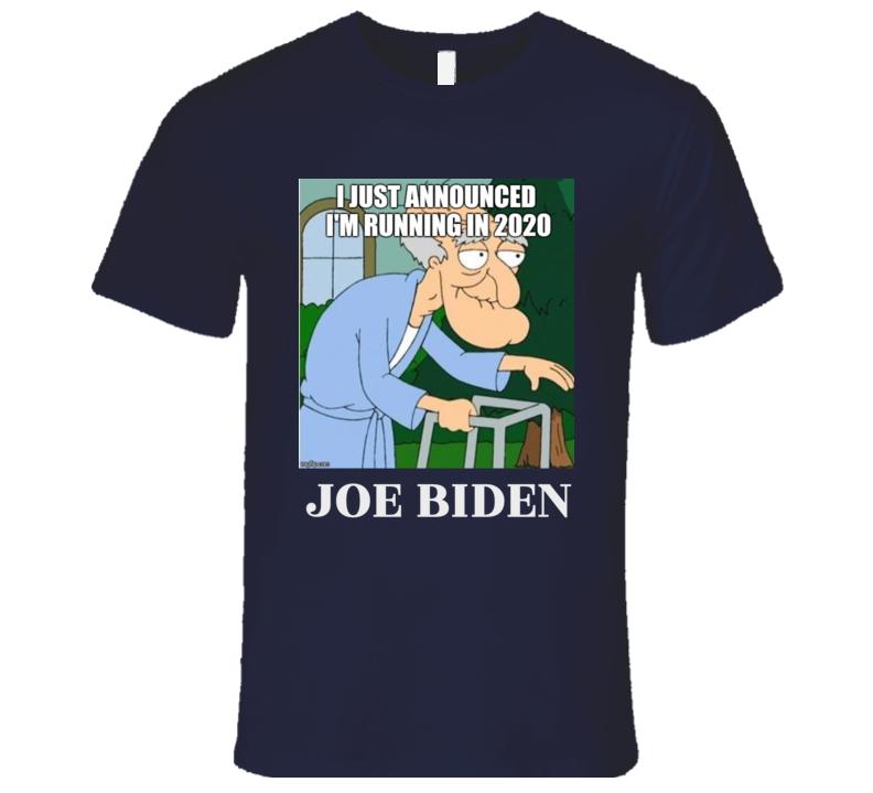 Joe Biden Is Herbert The Pervert I Just Announced I'm Running In 2020 Funny Premium Tshirt President Election 2020  T Shirt