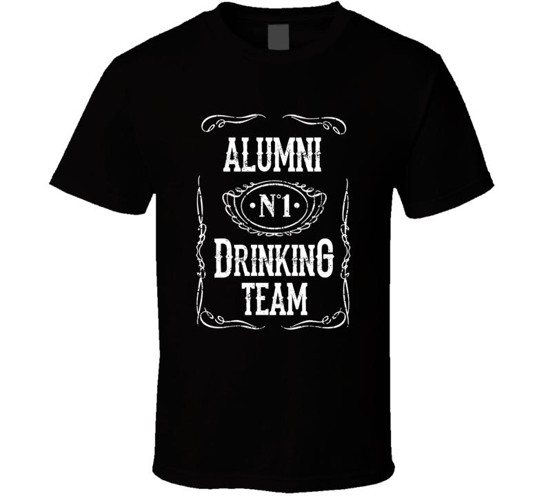Aumni University College No 1 Drinking Team Funny  Tailgate T Shirt