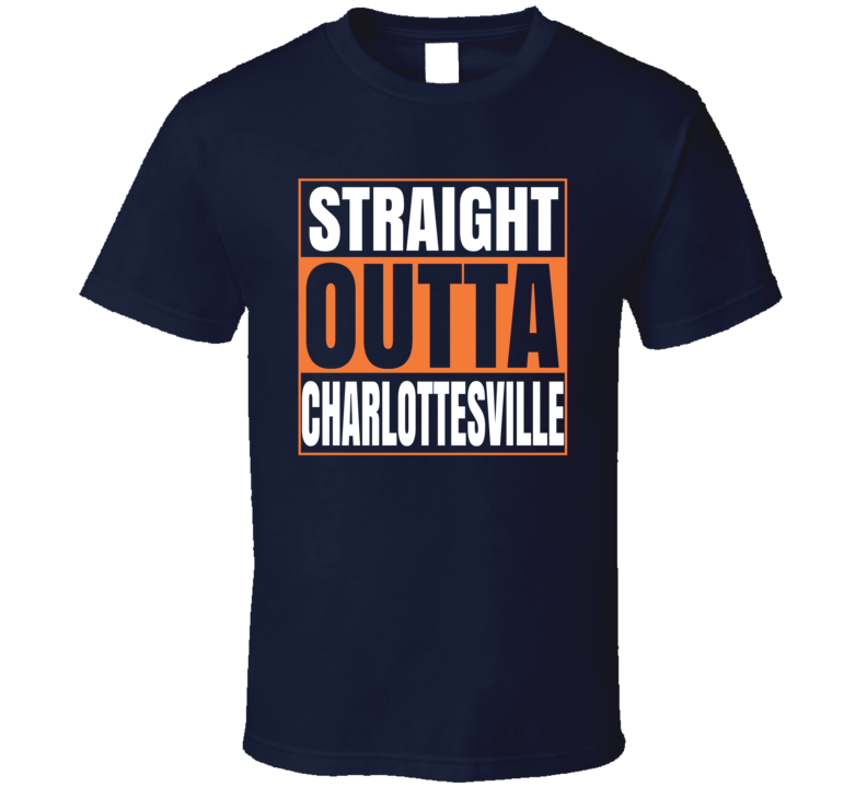 Straight Outta Charlottesville Tshirt Uva University Of Virginia Cavaliers T Shirt