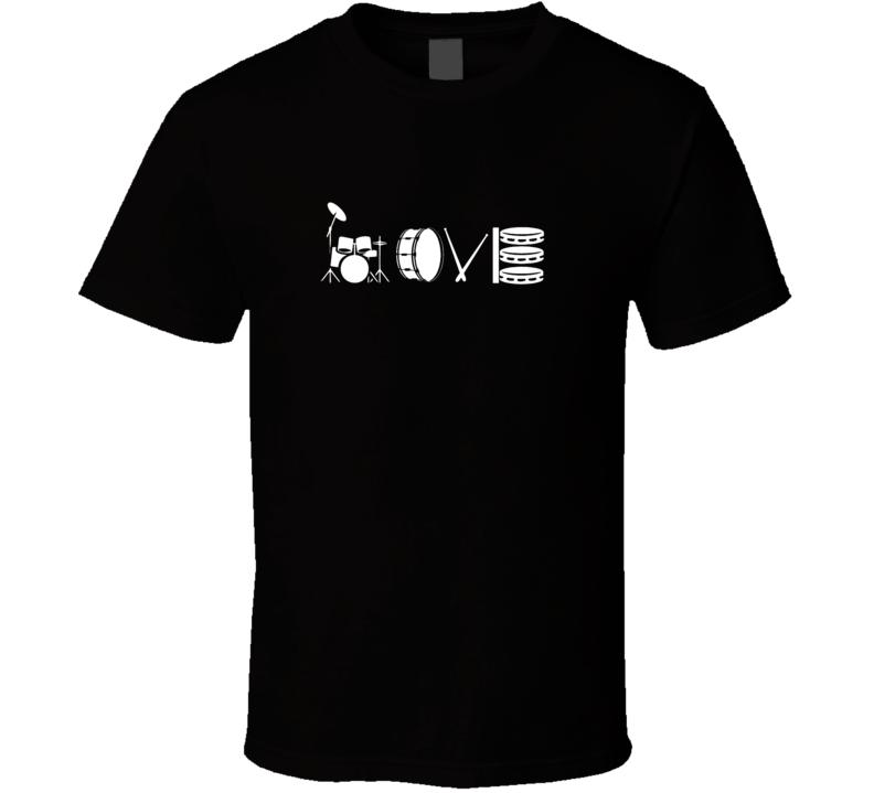 Drum Love Shirt Drummer Sticks Tom Snare T Shirt