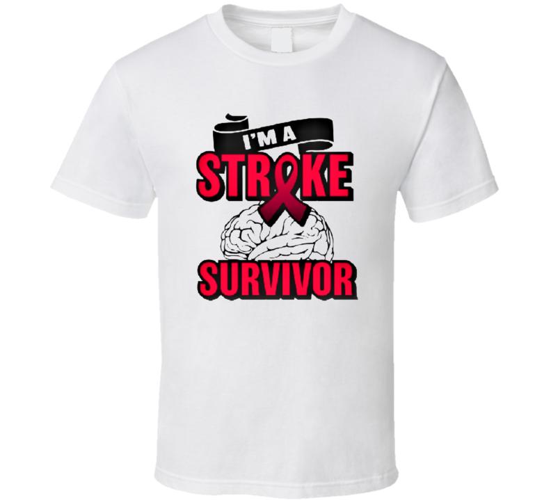I'm A Stroke Survivor Shirt  Brain Injury Warrior Awareness T Shirt