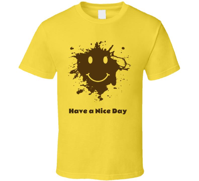 Forrest Gump It Happens Mud Spatter Running Smile Face T Shirt