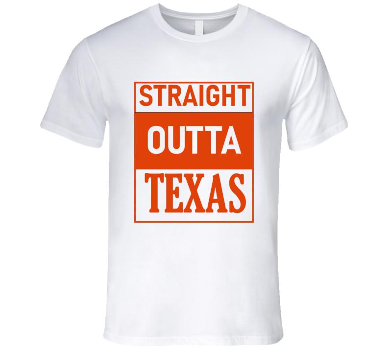 Straight Outta Texas Premium Longhorn Ut Shirt Football Custom T Shirt