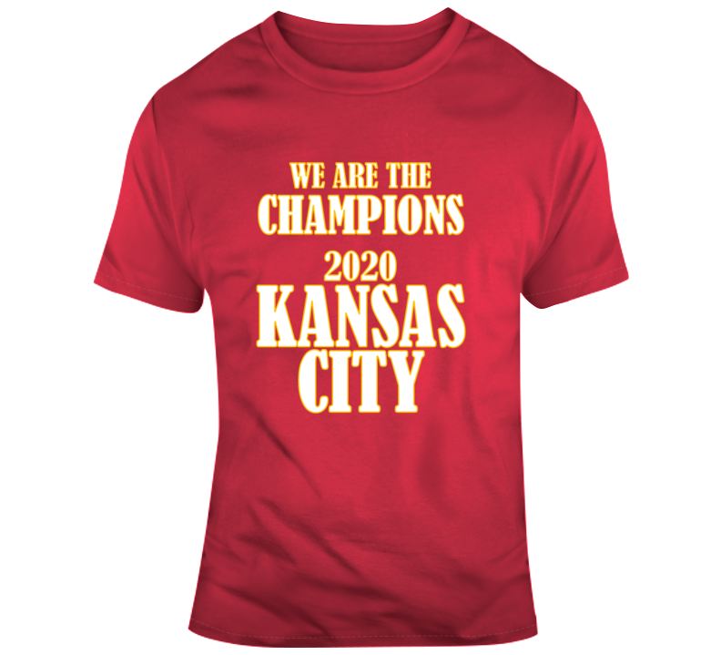 We Are The Champions 2020 Kansas City Gift Chiefs Bowl Football Tribute T Shirt