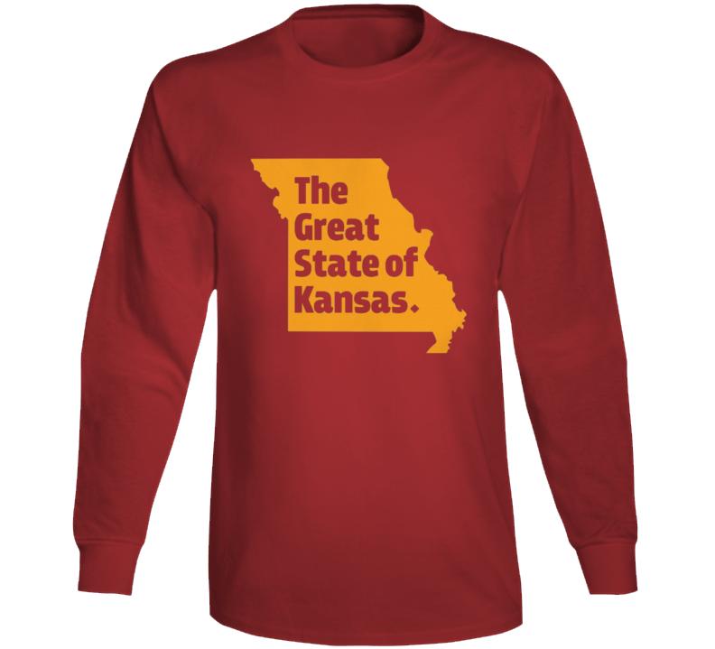 The Great State Of Kansas Trump Spoof Missouri Kansas City Long Sleeve