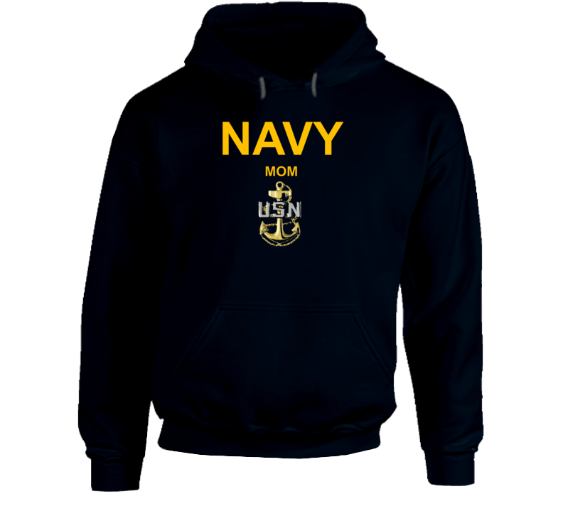 Navy Mom Usn Anchor Military Family Veteran Gift Hoodie