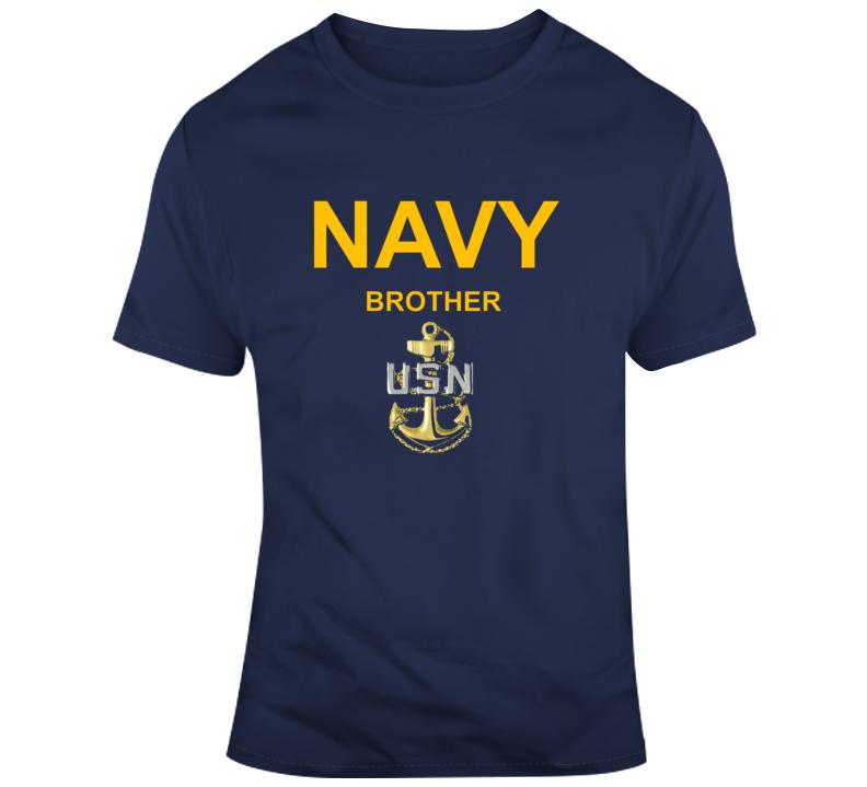 Navy Brother Usn Anchor Military Family Veteran Gift T Shirt