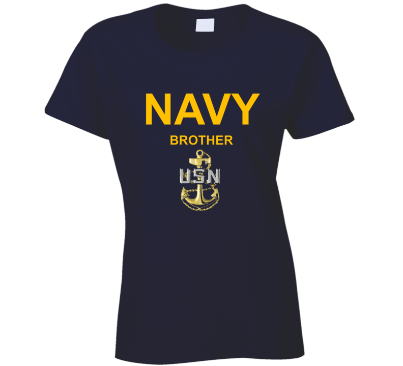 Navy Brother Usn Anchor Military Family Veteran Gift Ladies T Shirt