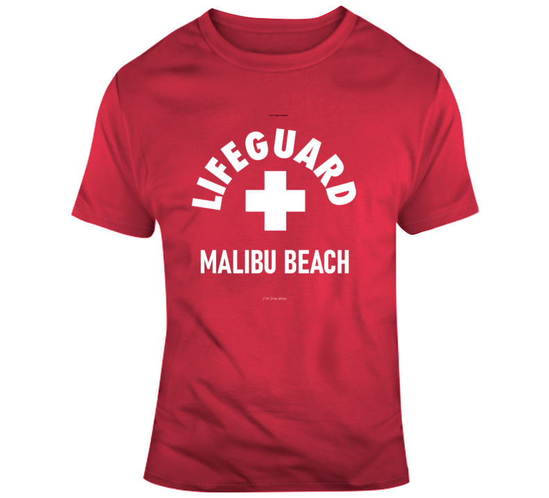 Lifeguard Malibu Beach California Surfing Summer Ocean Gift T Shirt