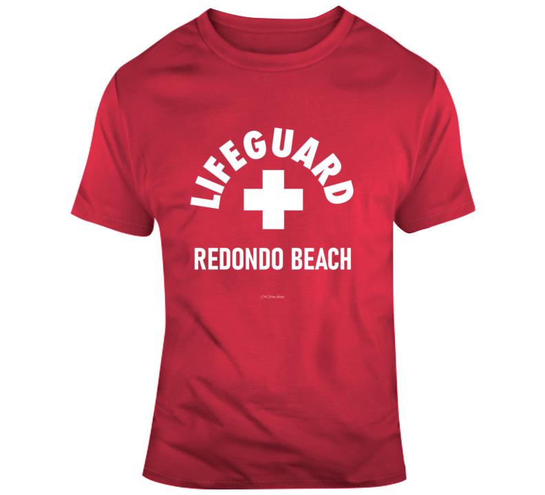Lifeguard Redondo Beach L A Surfing Summer Sun Sand California Gift T Shirt