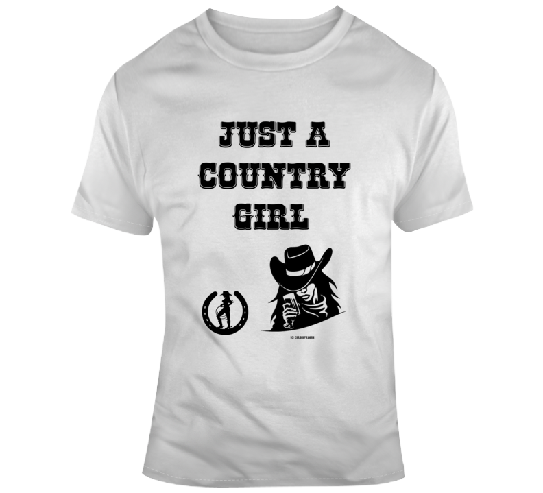 Just A Country Girl Cowgirl Western Horse Cowboy Gift T Shirt