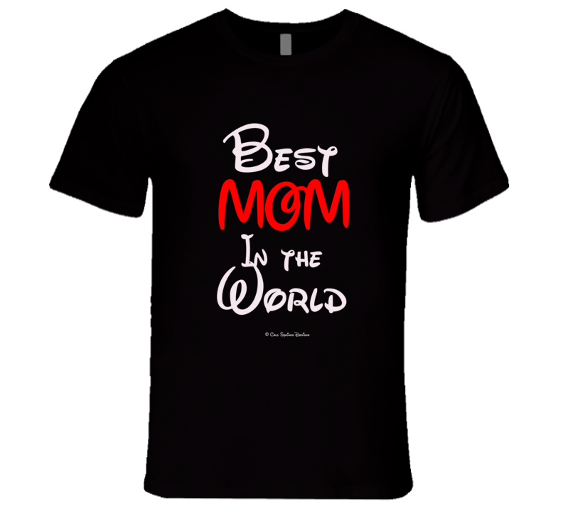 Best Mom In The World Mothers Day Gift  Premium Walt Mickey Mommy T Shirt