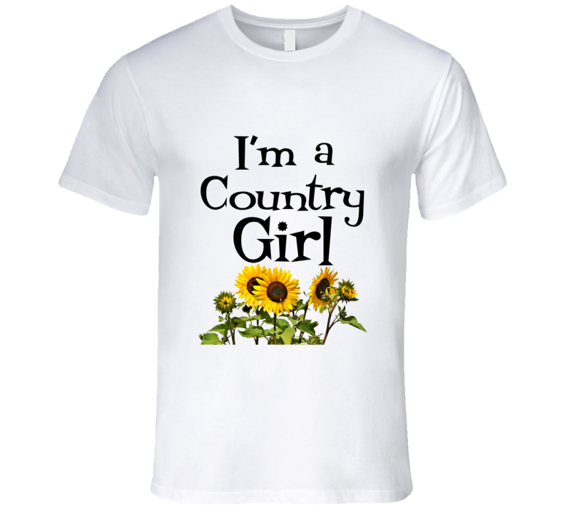 I'm A Country Girl Premium Gift Redneck Cowgirl Mothers Day T Shirt