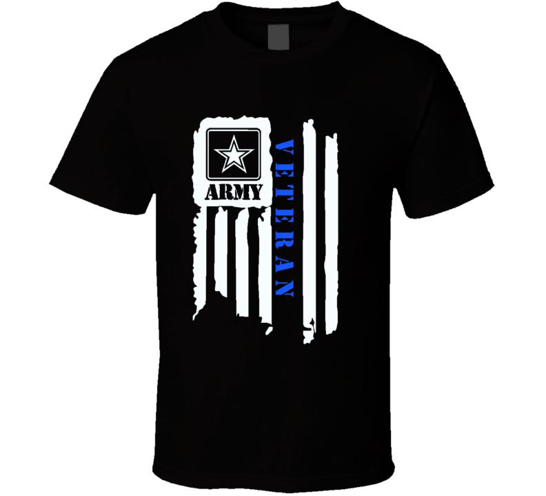 Army Veteran Flag Military Us Army Gift T Shirt