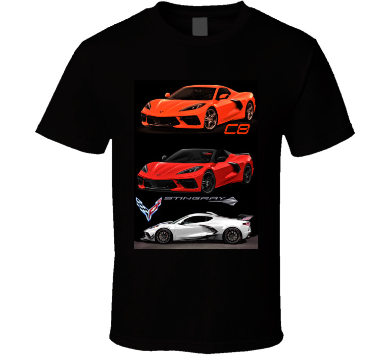 2020 Corvette C8 Muscle Cars Mid Engine 485 Hp New Gift T Shirt