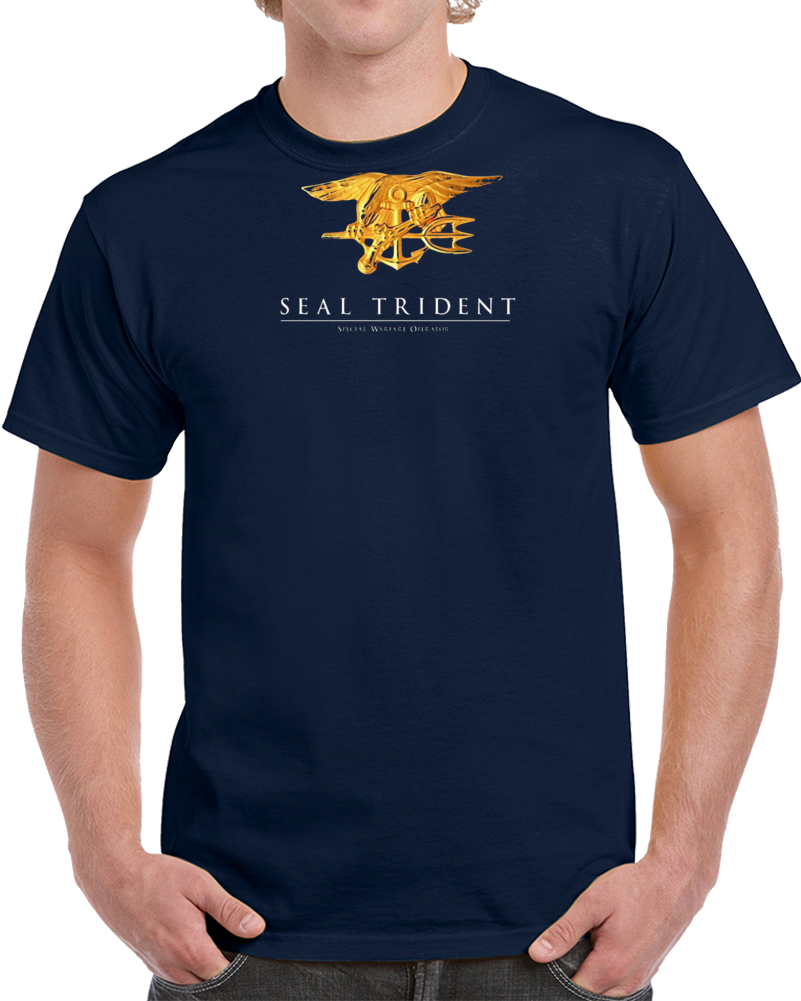 Us Navy Seal Trident Special Warfare Operator Team Military Premium Gift Honor T Shirt