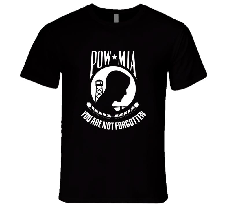 Pow Mia Gone But Not Forgotten Vietnam Veteran Hero Military Premium Gift T Shirt