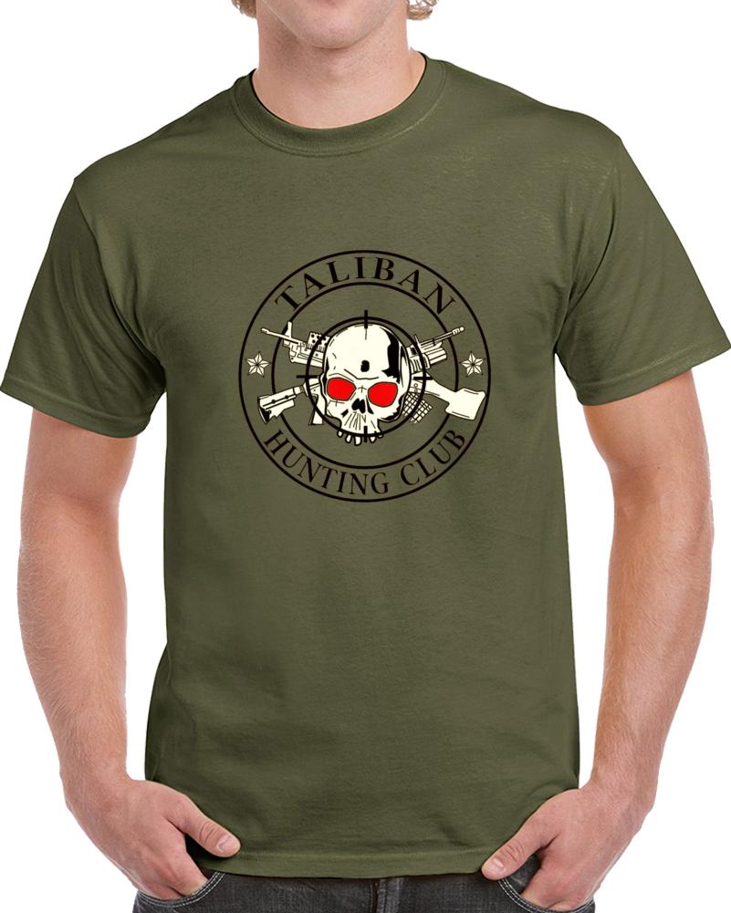 Taliban Hunting Club Skull Military Terrorist Hunters Gift T Shirt