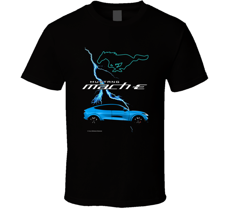 Mustang Mach E 2021 Electric Vehicle Ford Gift T Shirt