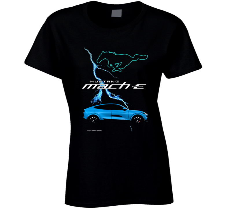 Mustang Mach E 2021 Electric Vehicle Ford Gift Ladies T Shirt