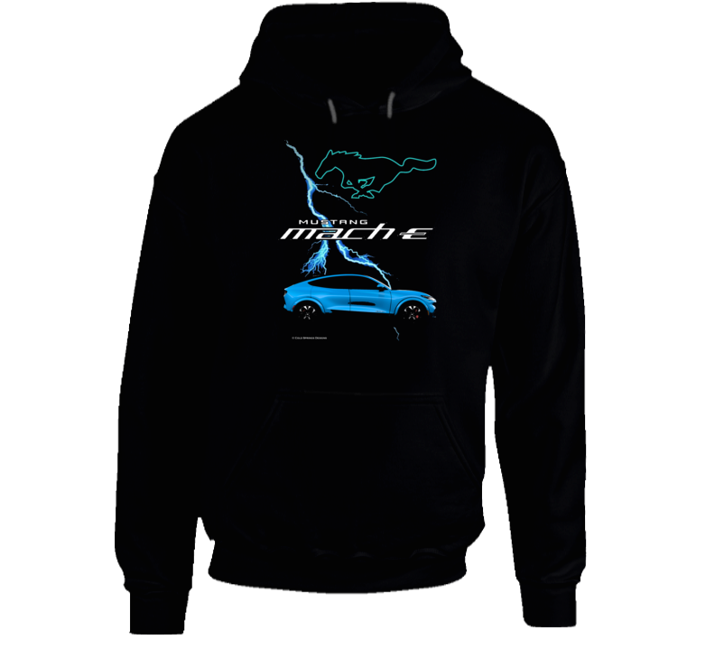 Mustang Mach E 2021 Electric Vehicle Ford Gift Hoodie