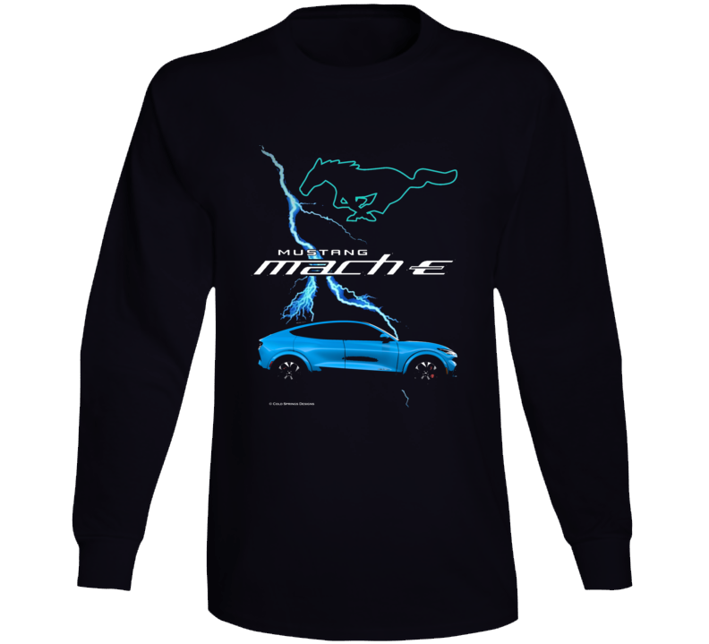 Mustang Mach E 2021 Electric Vehicle Ford Gift Long Sleeve