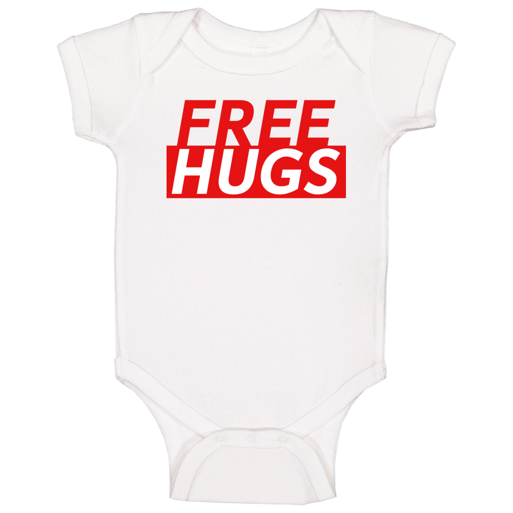 Free Hugs Funny Love Gift Baby One Piece