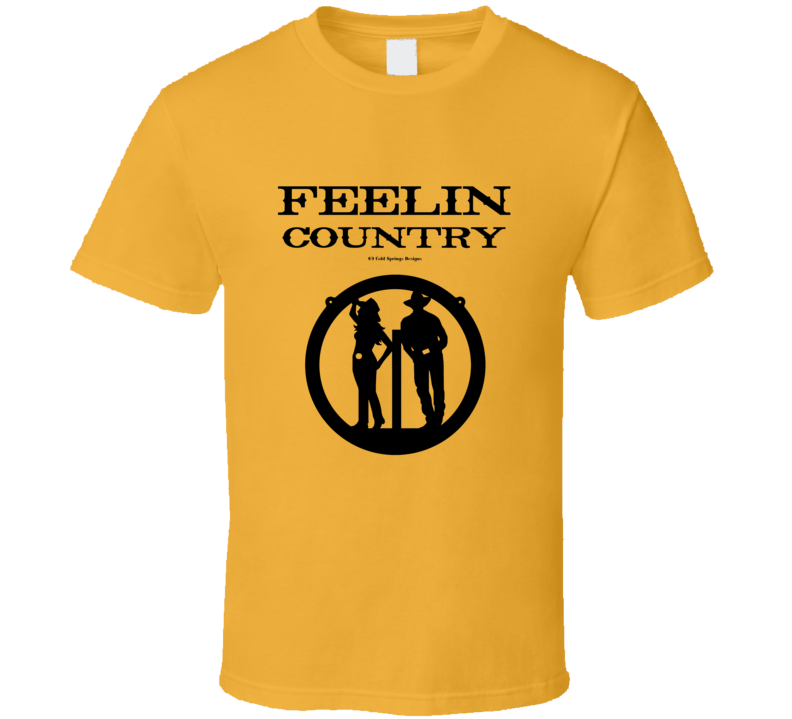 Feelin Country Trending Western Cowboy Cowgirl Gift T Shirt