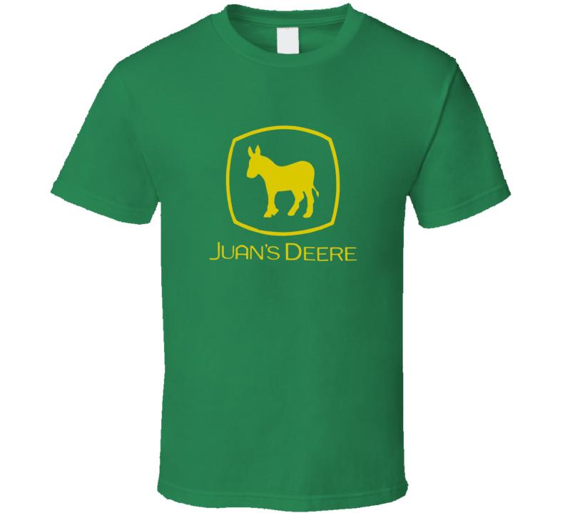 Juan's Deere Spoof Tractor Funny Gift T Shirt