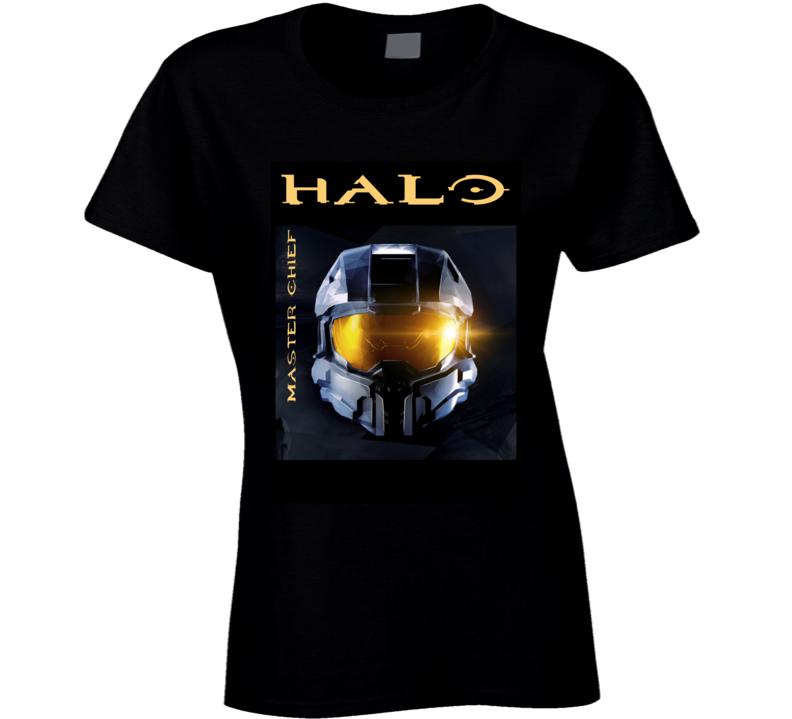 Halo Master Chief Helmet Gift Ladies T Shirt