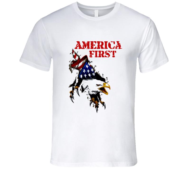 America First  United States Usa 1st Premium Patriotic Gift T Shirt
