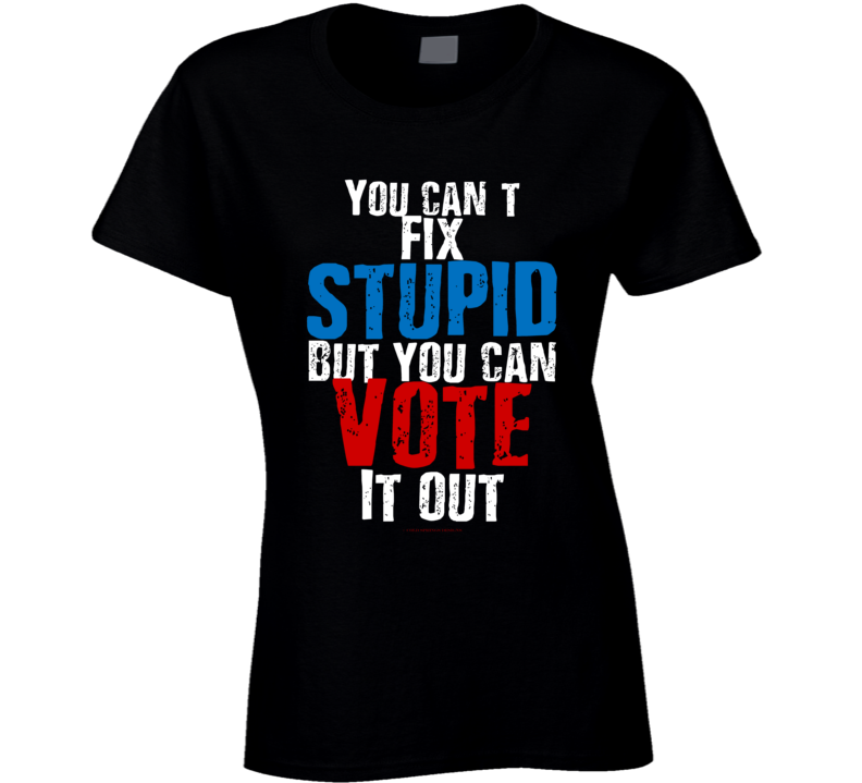 You Can't Fix Stupid But You Can Vote It Out Premium Gift Funny Ladies T Shirt