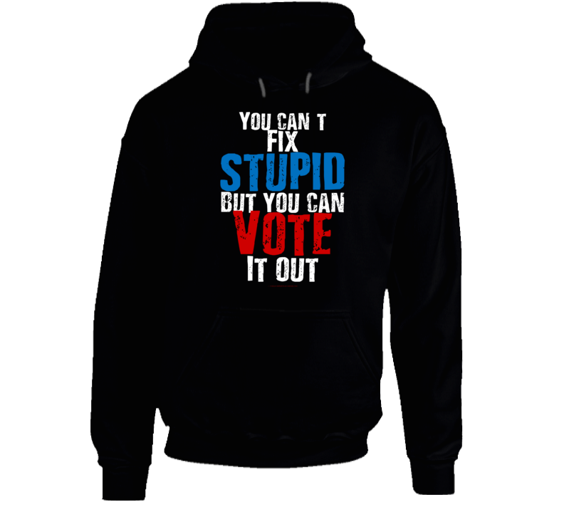 You Can't Fix Stupid But You Can Vote It Out Premium Gift Funny Hoodie
