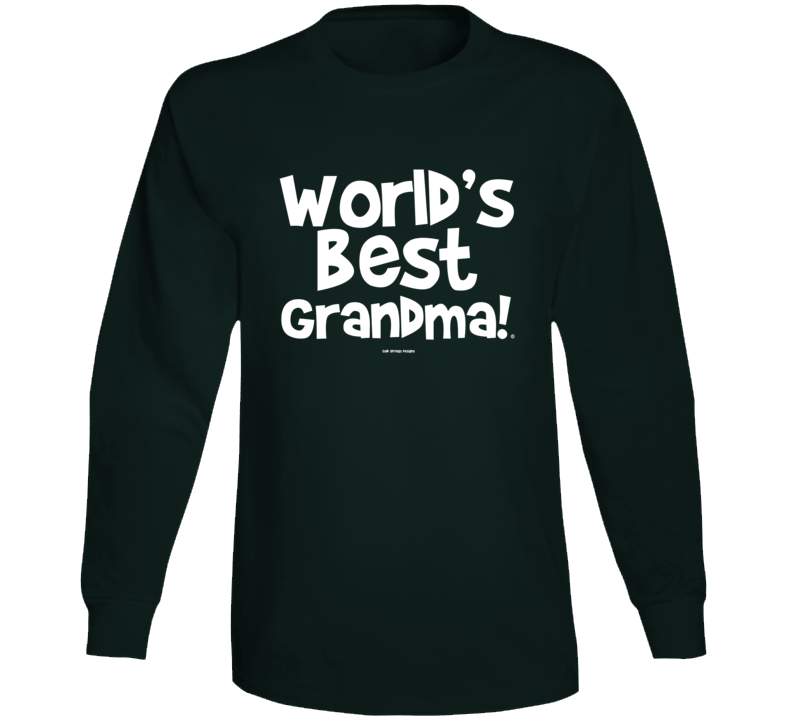 World's Best Great Grandma Mother Gift Cold Springs Designs Long Sleeve T Shirt