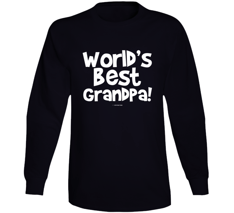 World's Best Grandpagift  Fathers Day Dad Cold Springs Designs Long Sleeve T Shirt