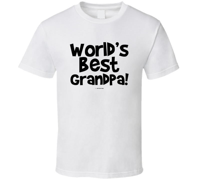 World's Best Grandpa Gift  Fathers Day Dad Cold Springs Designs T Shirt